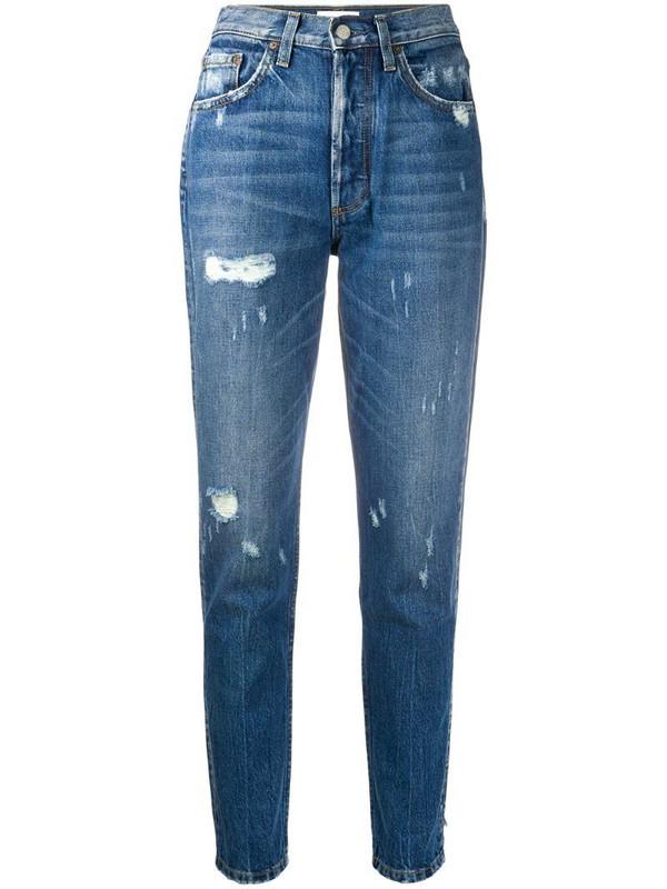 BOYISH DENIM Billy high rise slim fit jeans in blue