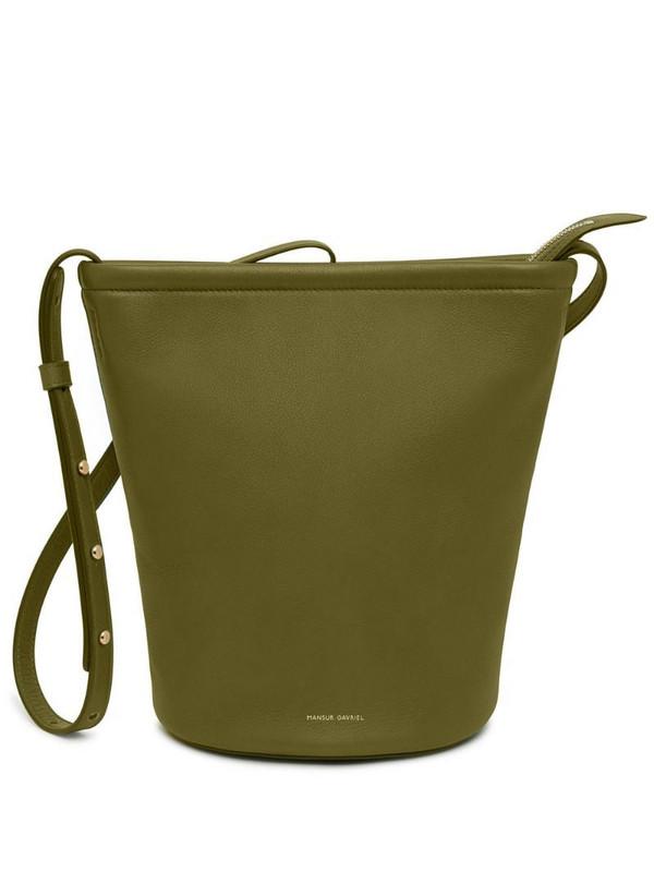 Mansur Gavriel Zip bucket bag in green