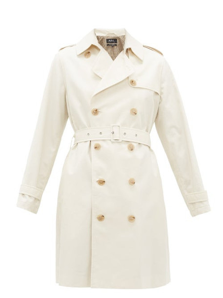 A.P.C. A.p.c. - Josephine Double-breasted Cotton Trench Coat - Womens - Ivory