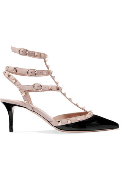Valentino - Valentino Garavani The Rockstud 65 Patent-leather Pumps - Black