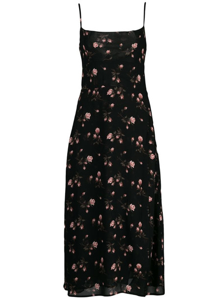 Reformation Romy dress in black