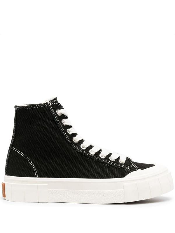 Good News Juice lace-up hi-top sneakers in black