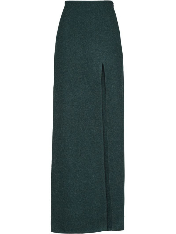 Miu Miu Shetland wool long skirt in green