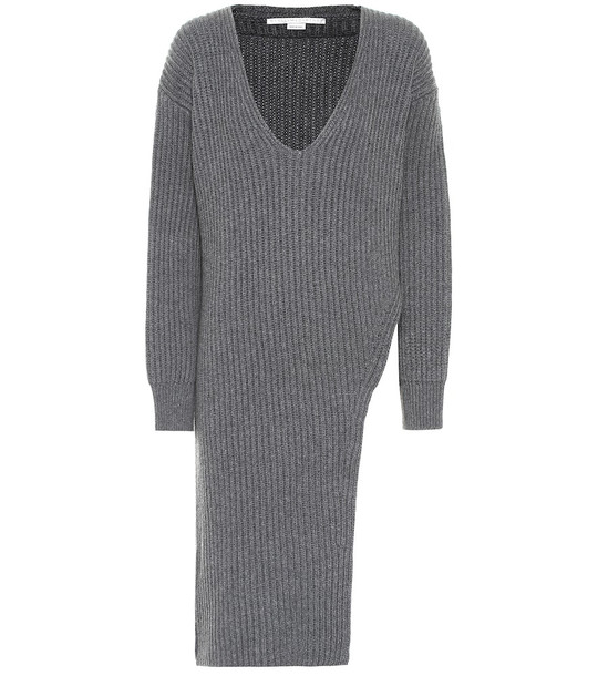 Stella McCartney Cashmere and wool dress in grey