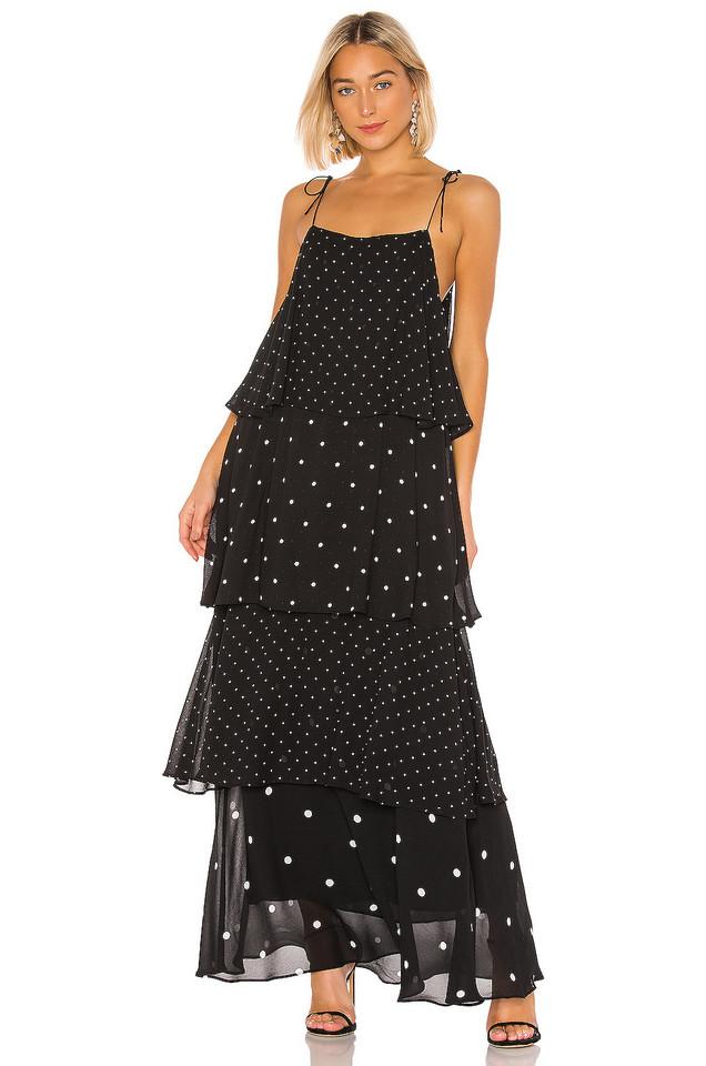 ANINE BING Daisy Maxi Dress in black