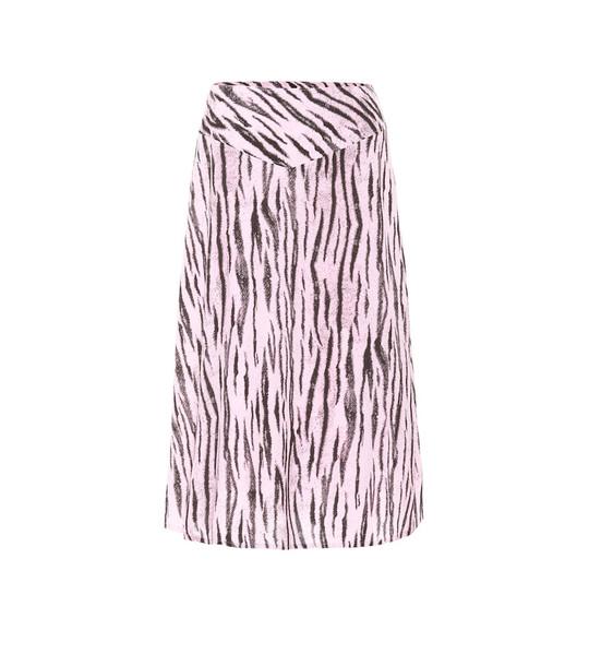 Baum und Pferdgarten Exclusive to Mytheresa – Senga tiger-print midi skirt in pink
