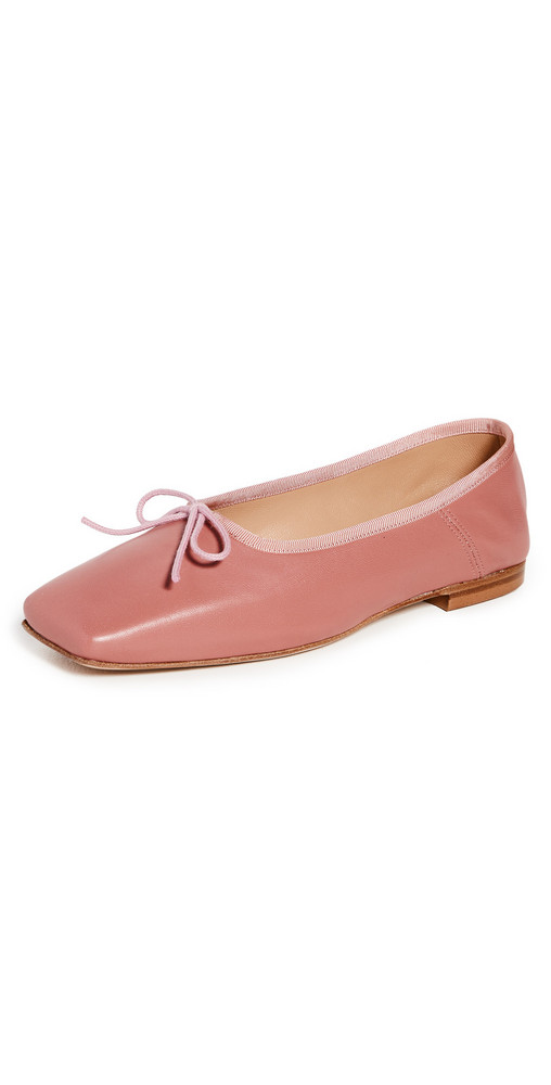 Mansur Gavriel Square Ballerina Flats in blush