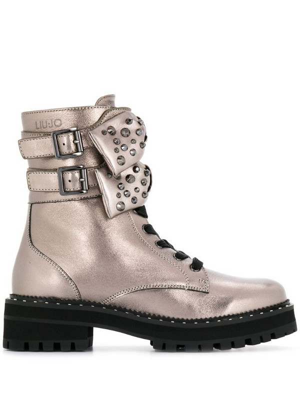 LIU JO bow detail boots in gold