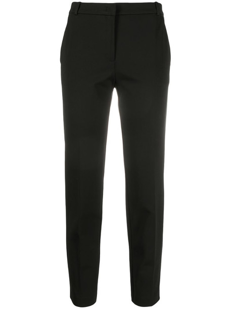 Pinko slim fit cropped tailored trousers in black