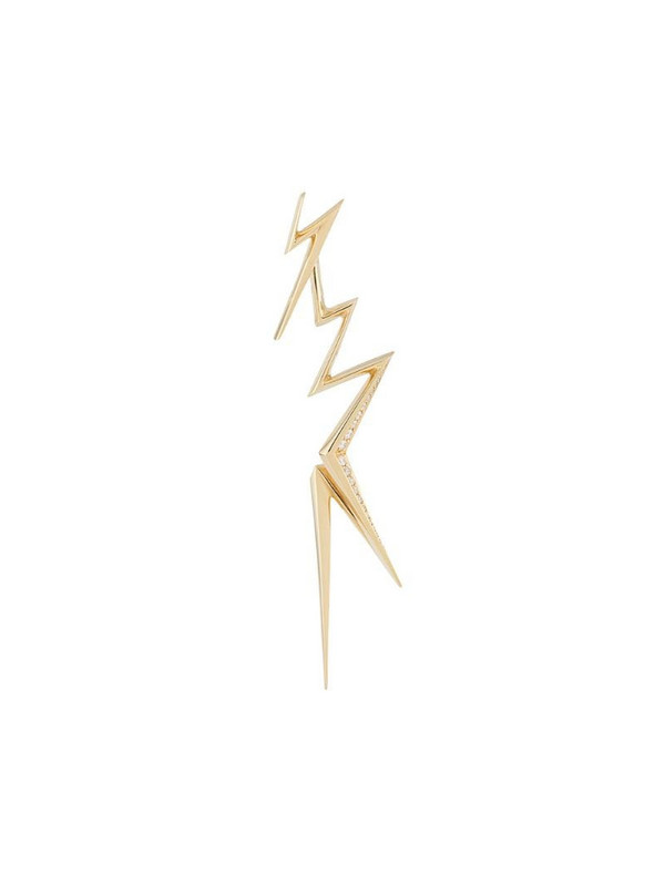 LE STER 18kt yellow gold diamond Thunderflash left earring