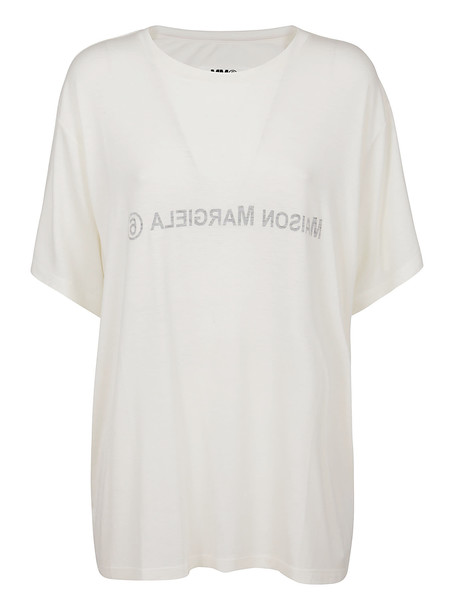 MM6 Maison Margiela Ivory Viscose T-shirt