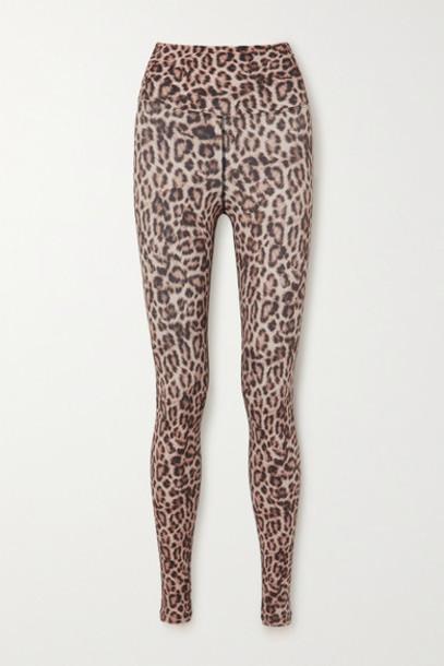 Beach Riot - Piper Leopard-print Stretch-jersey Leggings - Leopard print