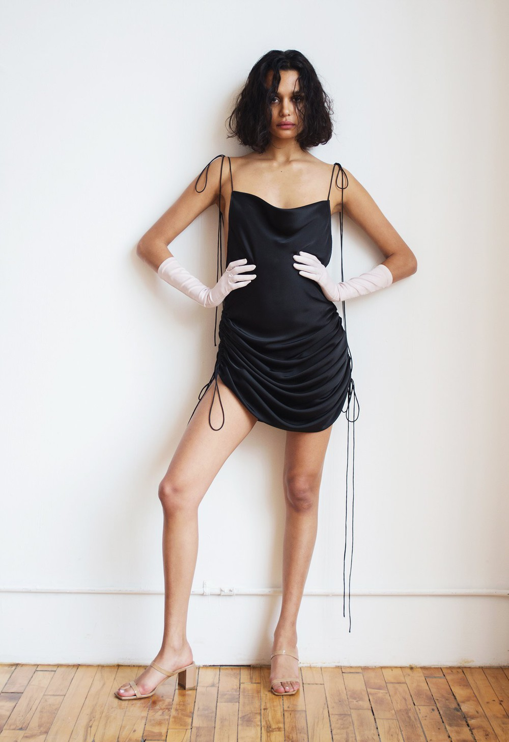 Orseund Iris DRAWSTRING DRESS BLACK