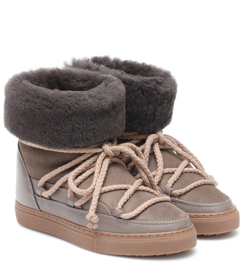 Inuikii Classic suede and leather boots in brown