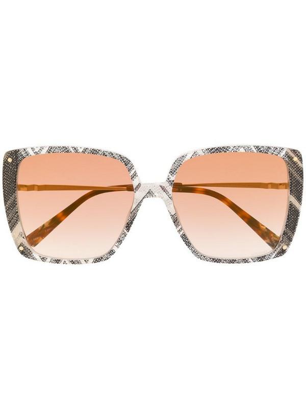 MISSONI EYEWEAR oversized abstract print sunglasses in grey