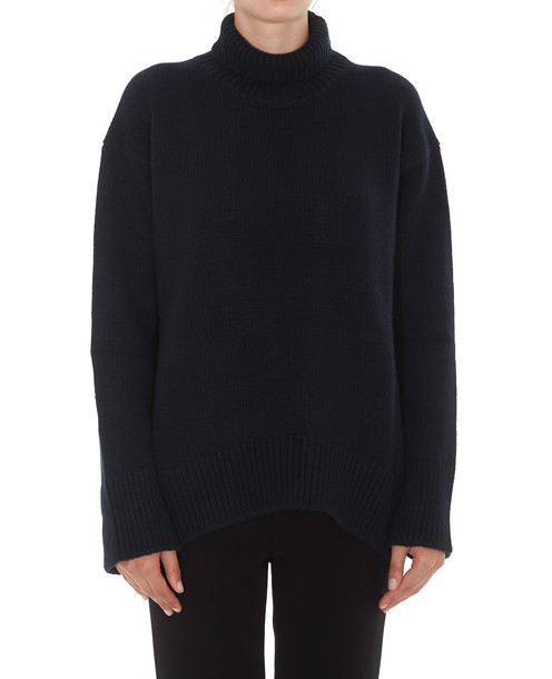 Plan C High Neck Pullover in navy