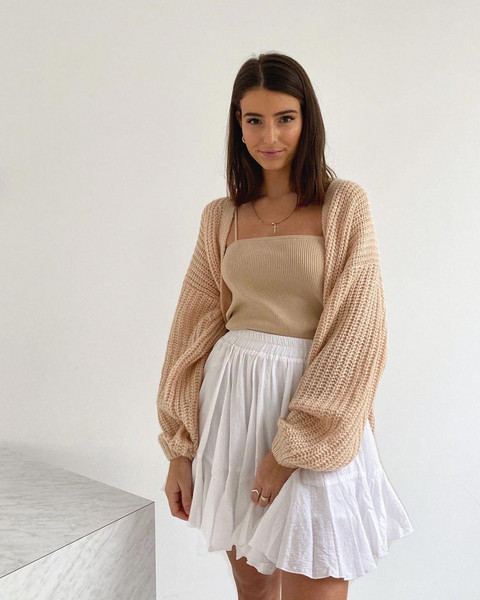 sweater skirt top