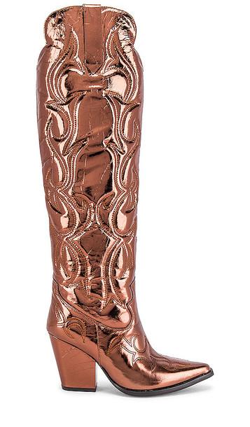 Jeffrey Campbell Amigos Boot in Metallic Bronze
