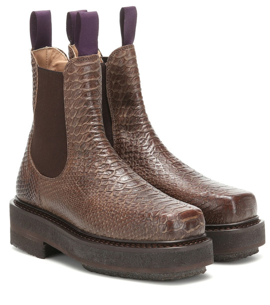 Eytys Ortega leather ankle boots in brown