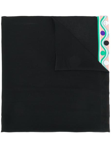 Emilio Pucci Burle print scarf in black