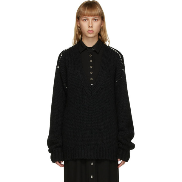 Ann Demeulemeester SSENSE Exclusive Black Claudio Sweater