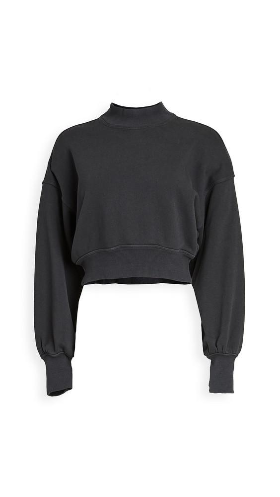 Spiritual Gangster Blake Mock Neck Sweatshirt in black