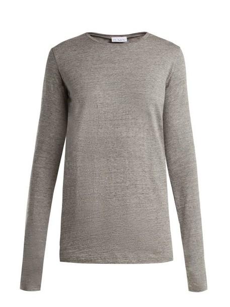Raey - Long Sleeved Slubby Cotton Jersey T Shirt - Womens - Light Grey
