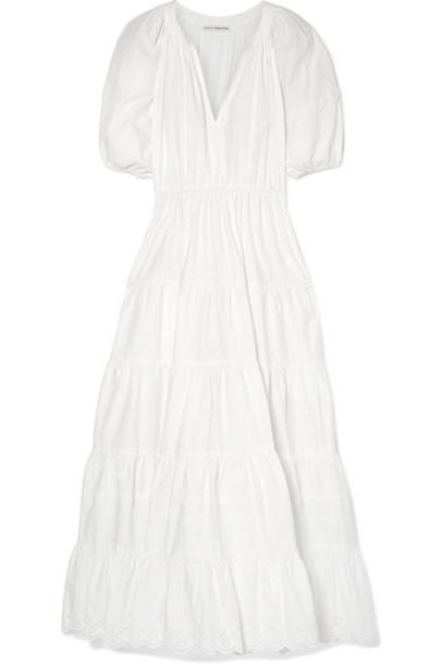 Ulla Johnson - Claribel Broderie Anglaise-trimmed Cotton-poplin Maxi Dress - White