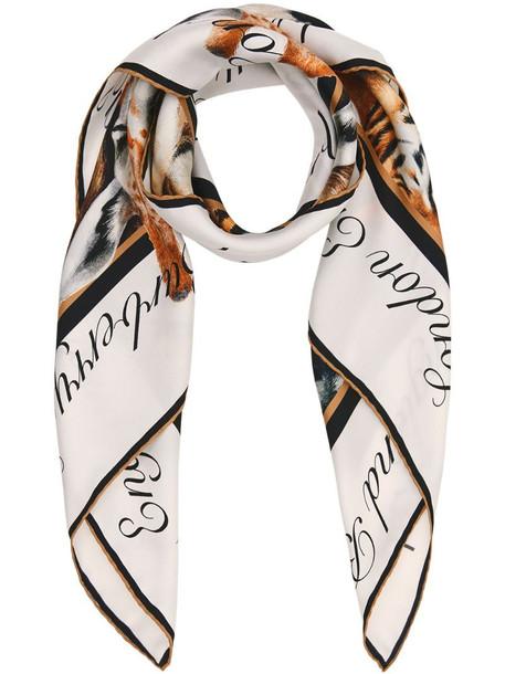 Burberry Animalia print square scarf in brown