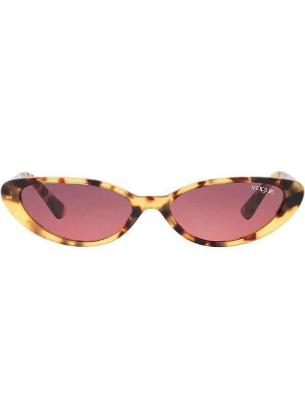 Vogue Eyewear Gigi Hadid capsule tortoiseshell round sunglasses in brown