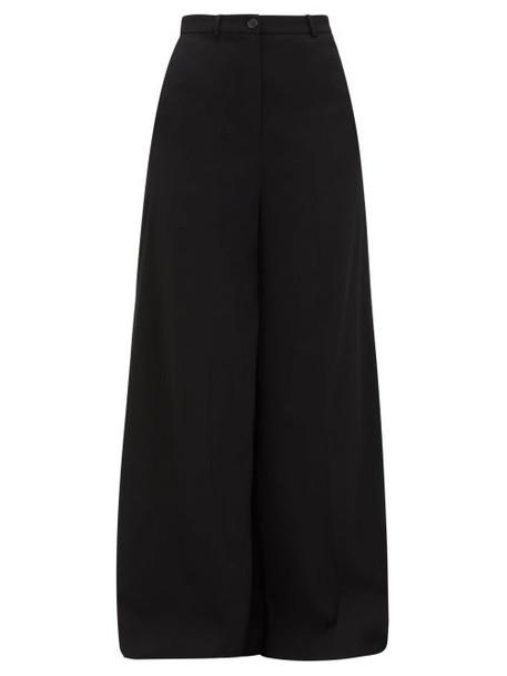 Vetements - Wide Leg Tailored Trousers - Womens - Black