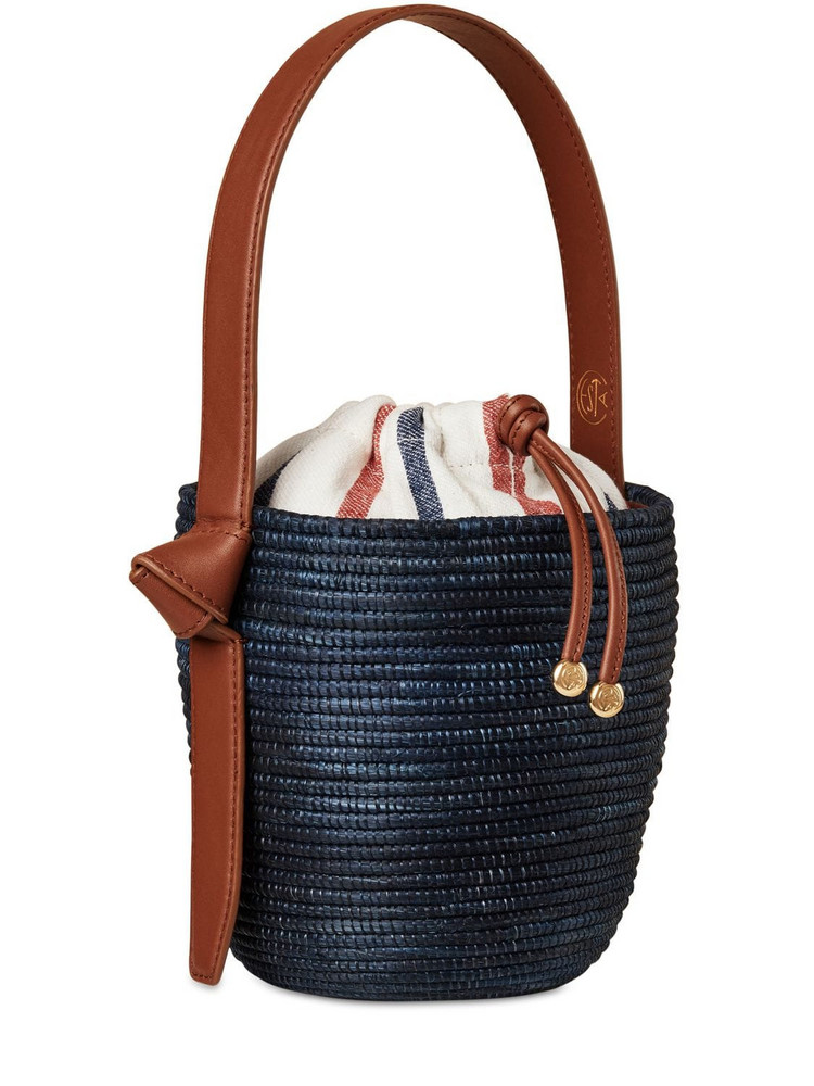 CESTA COLLECTIVE Summer Stripe Lunchpail Canvas Bag in blue