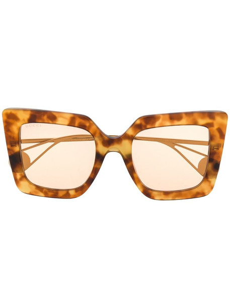 Gucci Eyewear square-shaped sunglasses in brown
