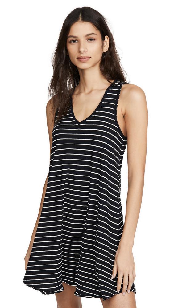 Z Supply Yuma Stripe Breezy Dress in black / natural