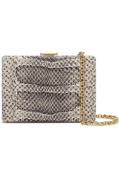 Anya Hindmarch - Mini Snake-effect Leather Shoulder Bag - Beige