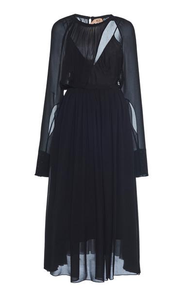 N°21 Cutout Crepe Dress Size: 38 in black