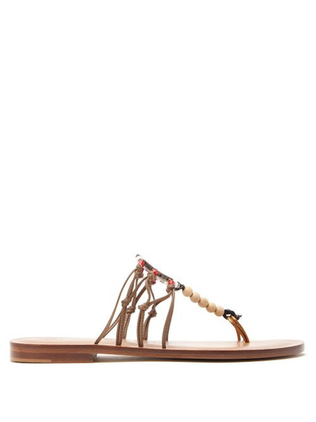 Álvaro Álvaro - X Kim Hersov Art Leather Sandals - Womens - Tan