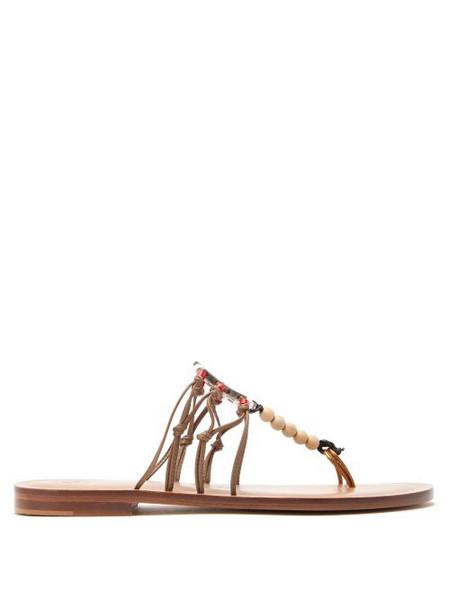 Álvaro Álvaro - X Kim Hersov Art Leather Sandals - Womens - Tan