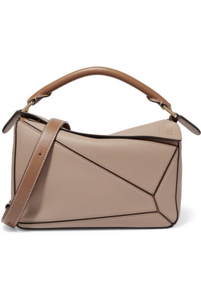 Loewe - Puzzle Small Textured-leather Shoulder Bag - Sand
