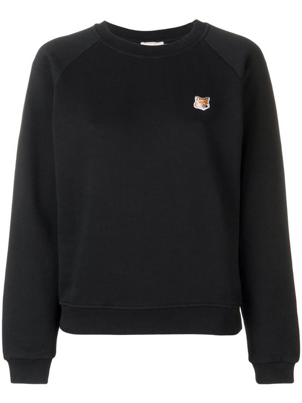 Maison Kitsuné Fox patch sweatshirt in black