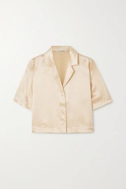 Reformation - Hanson Silk-satin Blouse - Ivory