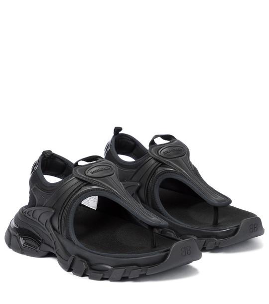 Balenciaga Track sandals in black