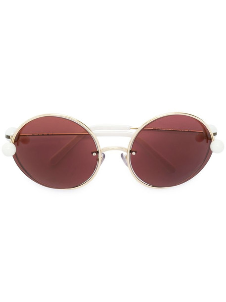 Marni Eyewear round acetate sunglasses in metallic