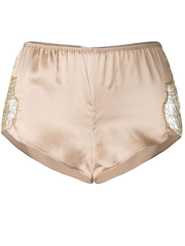 Gilda & Pearl Gina silk shorts in neutrals