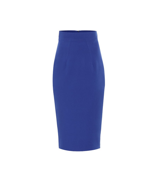 Safiyaa Hokoku crêpe pencil skirt in blue