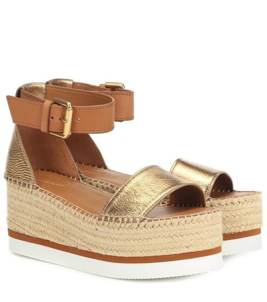 See By Chloé Glyn platform espadrille sandals in brown