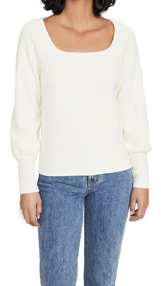 Madewell Safty Pin Top in cream
