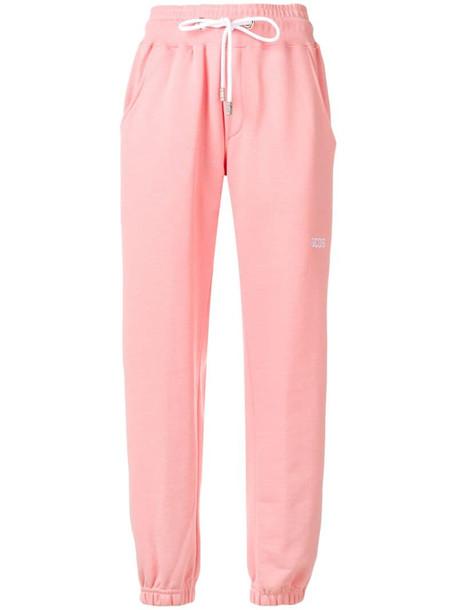 Gcds side stripe track pants in pink