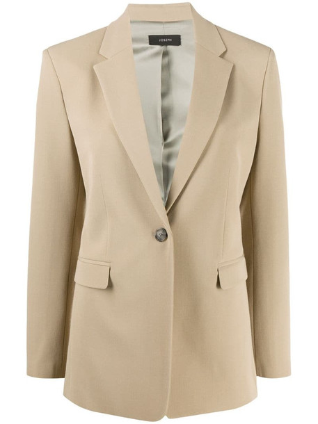 Joseph single breasted comfort-fit blazer in neutrals