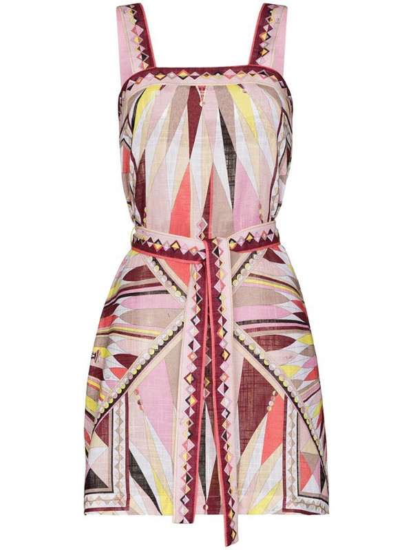 Emilio Pucci Bes-print beach dress in pink